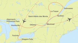 Ostkanada Route von Toronto bis Montréal